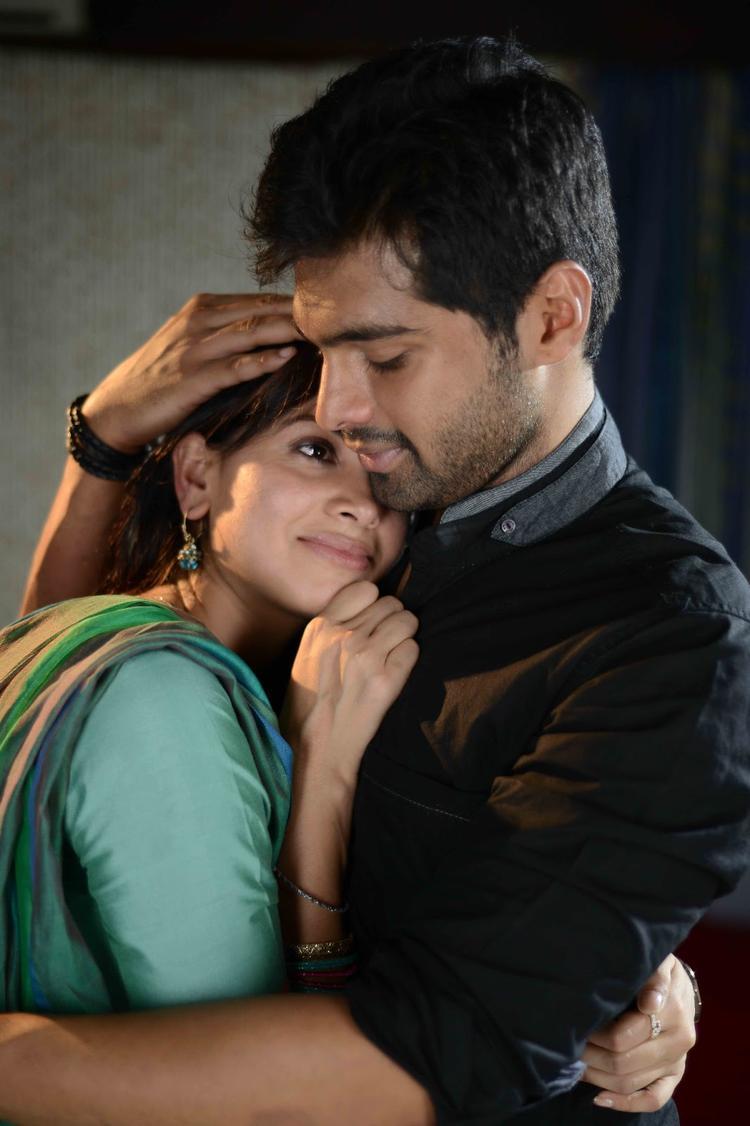 Supriya And Adith Hug Still From Weekend Love Movie