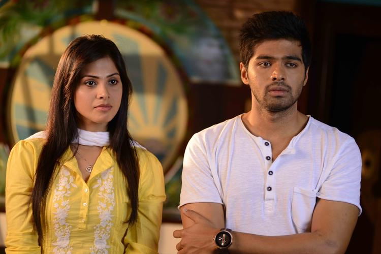 Supriya And Adith A Still From Weekend Love Movie