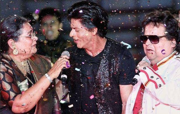 Usha,Shahrukh And Bappi Performed At IPL 6 Opening Ceremony 2013