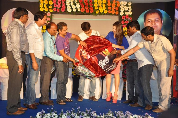 Arya,Hansika And Suresh Photo Clicked During Launch Of Crazy Audio