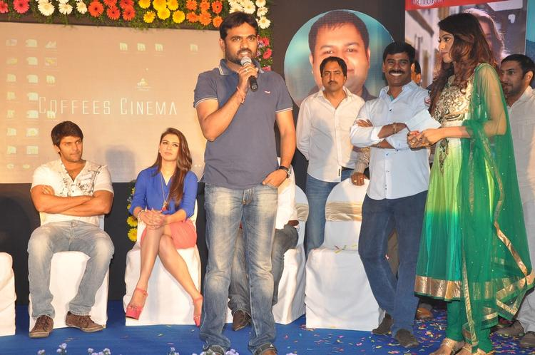 Arya,Hansika,Maruthi And Suresh On Stage Photo Clicked At Crazy Audio Launch Function
