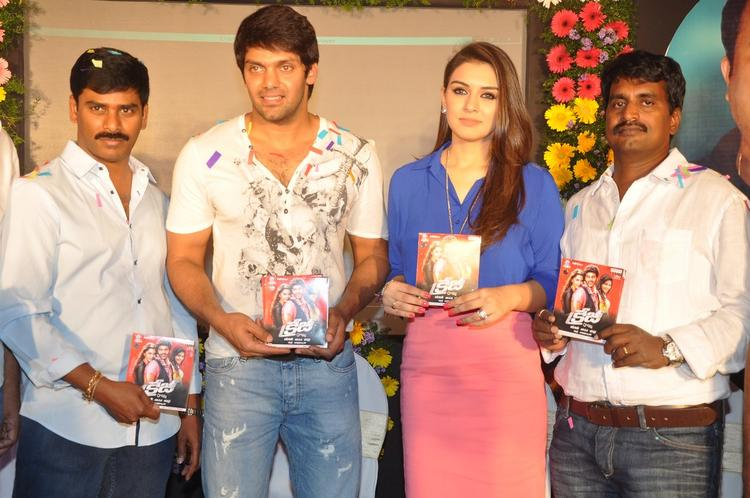 Arya,Hansika,R.Kannan And Suresh Posed With CDs At Crazy Audio Launch Function