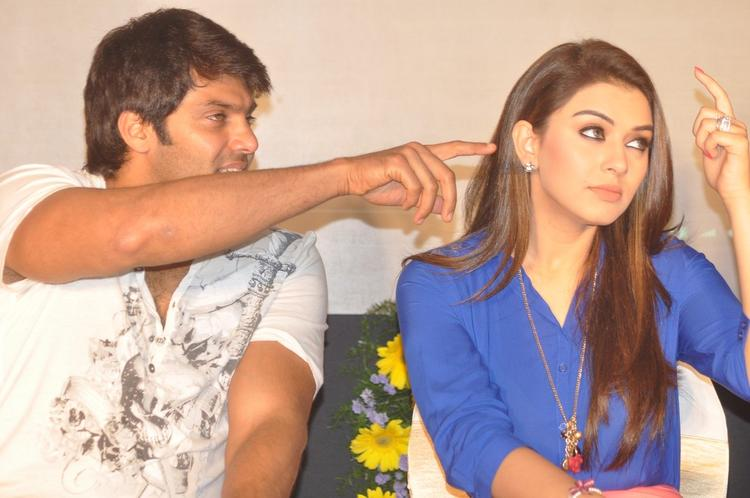 Hansika And Arya Cute Look Photo Clicked At Crazy Audio Launch Function