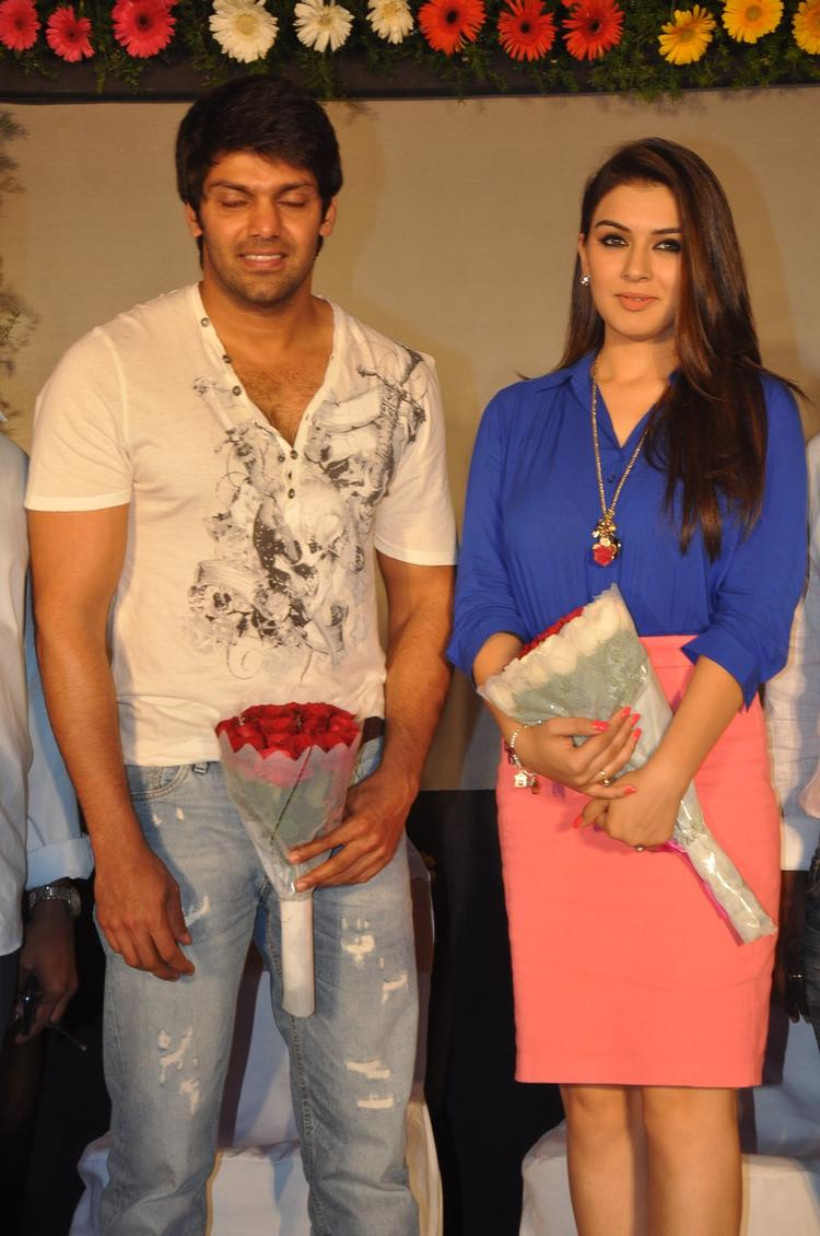 Hansika And Arya Make An Appearance At Crazy Audio Launch Function