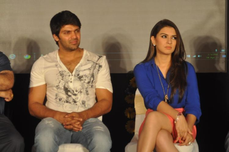 Sexy Hansika And Arya Snapped At Crazy Audio Launch Function