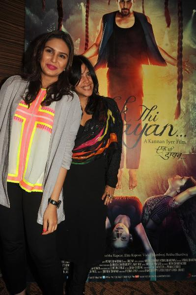 Huma  And Ekta Crazy Look Photo Clicked At The Launch Of Book Daayan