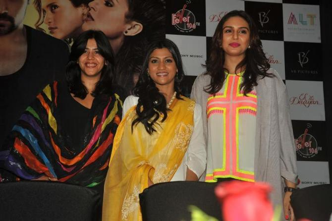 Huma,Ekta And Konkona Arrived At The Launch Of Book Daayan