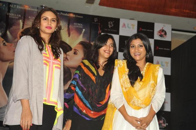 Huma,Ekta And Konkona Snapped At The Launch Of Book Daayan