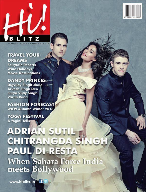 Chitrangada Singh Graced On The Cover Of Hi! BLITZ April 2013 Edition