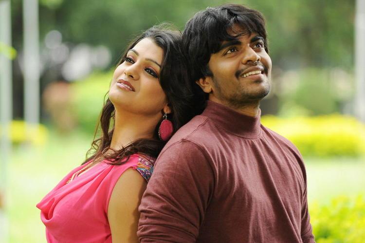Srinivas And Tashu Charming Look Photo Still From Movie Gola Seenu