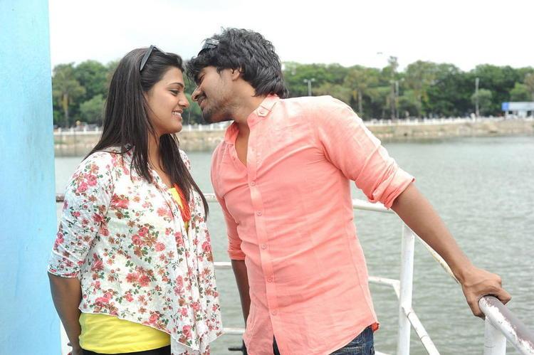 Srinivas And Tashu Kissing Photo Still From Movie Gola Seenu