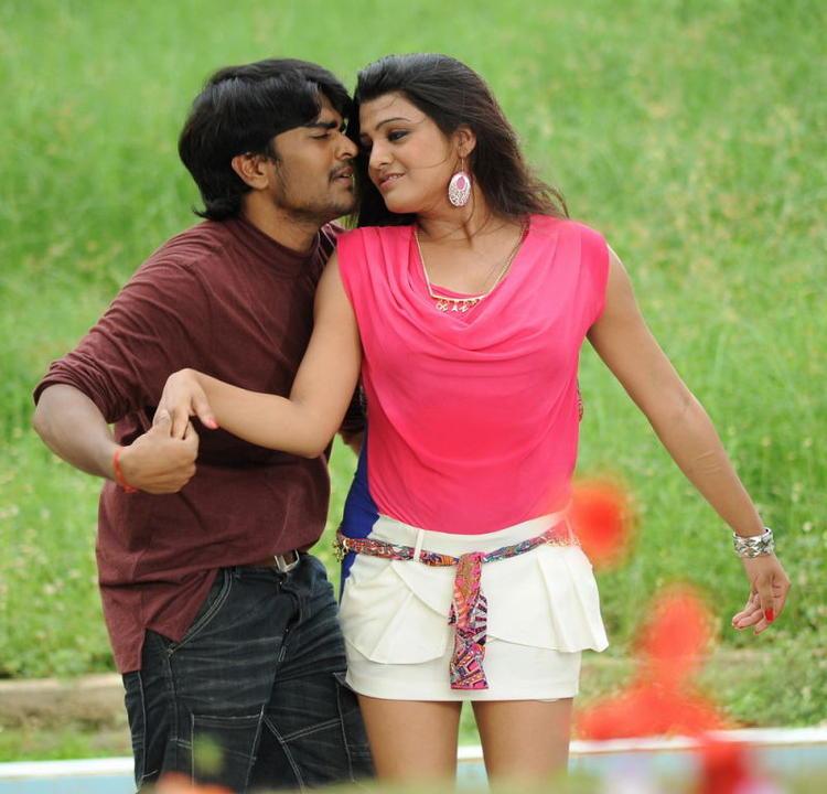 Srinivas And Tashu Romance Scene Photo Still From Movie Gola Seenu