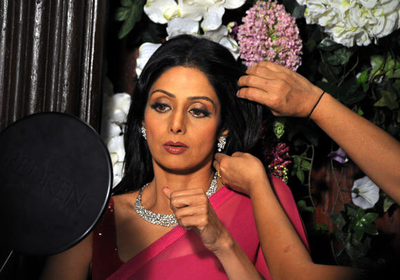 Sridevi Make Up Photo Clicked For Tanisq Jewellery Photo Shoot