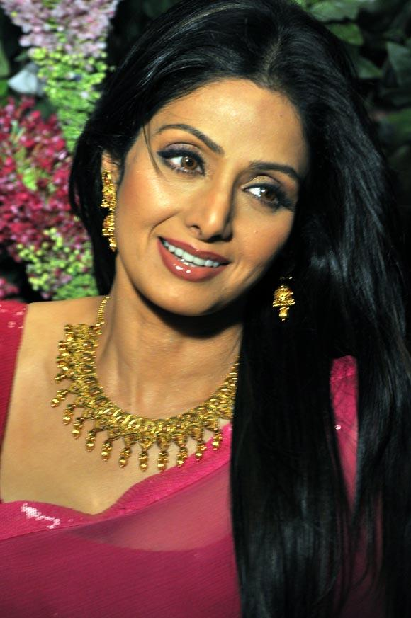Sridevi Nice Look With Cute Smiling Photo Shoot For Tanisq Jewellery