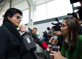 SRK Speaking To The Media At Vancouver International Airport