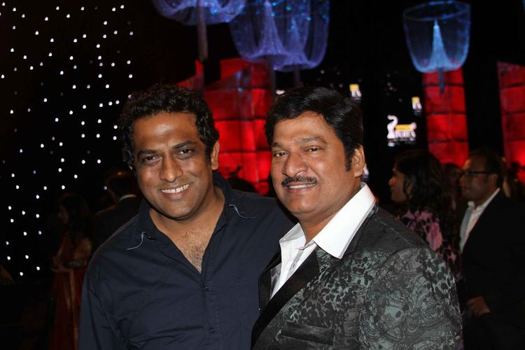 Anurag And Gadde Rajendra Prasad Smiling Pose At Nata Kireeti Dr. Rajendra Prasad Award Function