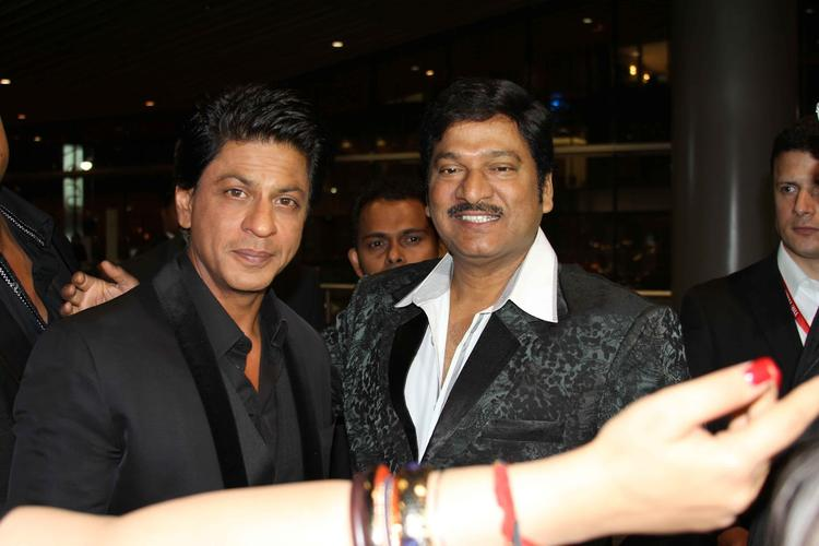 Shahrukh And Gadde Rajendra Prasad Posed For Camera At Nata Kireeti Dr. Rajendra Prasad Award Function
