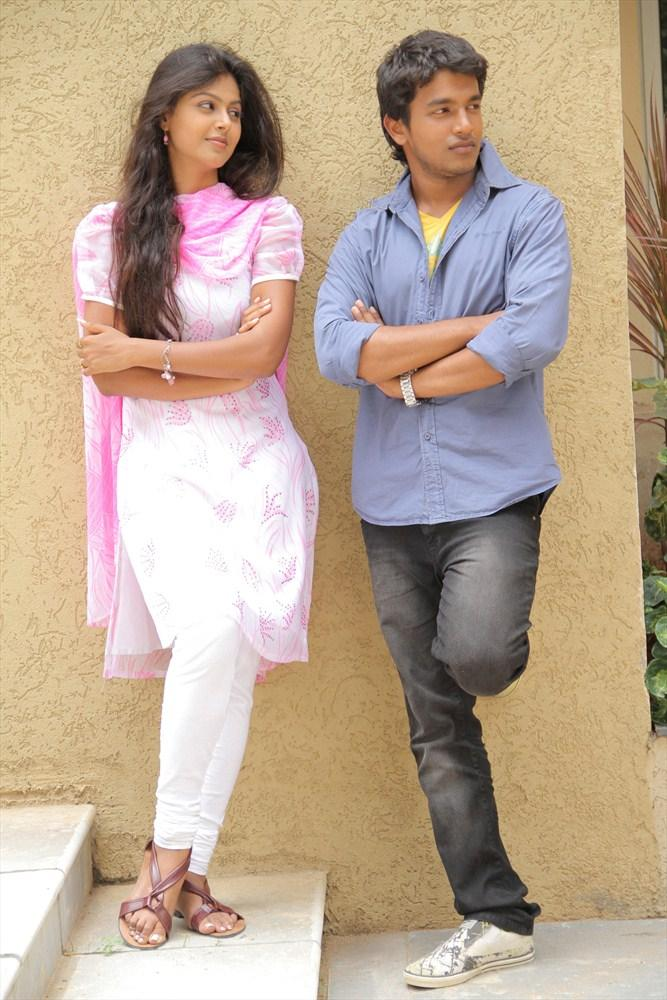 Sravan And Monal Glamour Look Photo Still From Oka Collage Story Movie