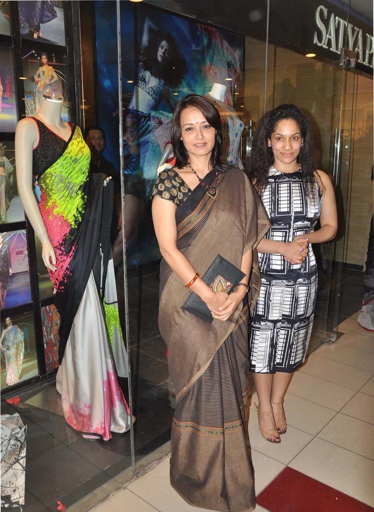 Amala And Masaba At Satya Paul Hyderabad