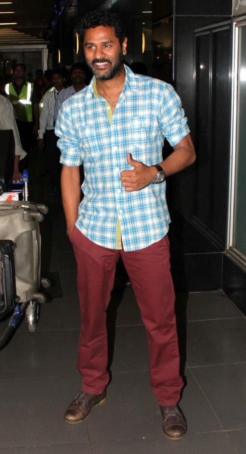 India Dancing Superstar Prabhu Spotted At Mumbai Airport On His Arrival From TOIFA 2013