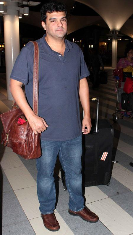 Siddharth Roy Kapur At Mumbai Airport On The Arrival From TOIFA 2013
