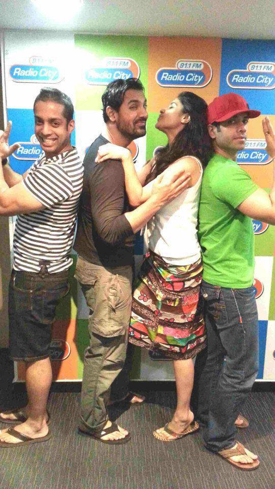 John And Tusshar Posed At Radio City 91.1 FM
