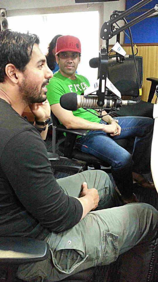 John And Tusshar At Radio City 91.1 FM For Promoting Shootout At Wadala Movie