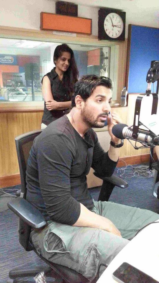 John Promotes His Upcoming Movie Shootout At Wadala At Radio City 91.1 FM