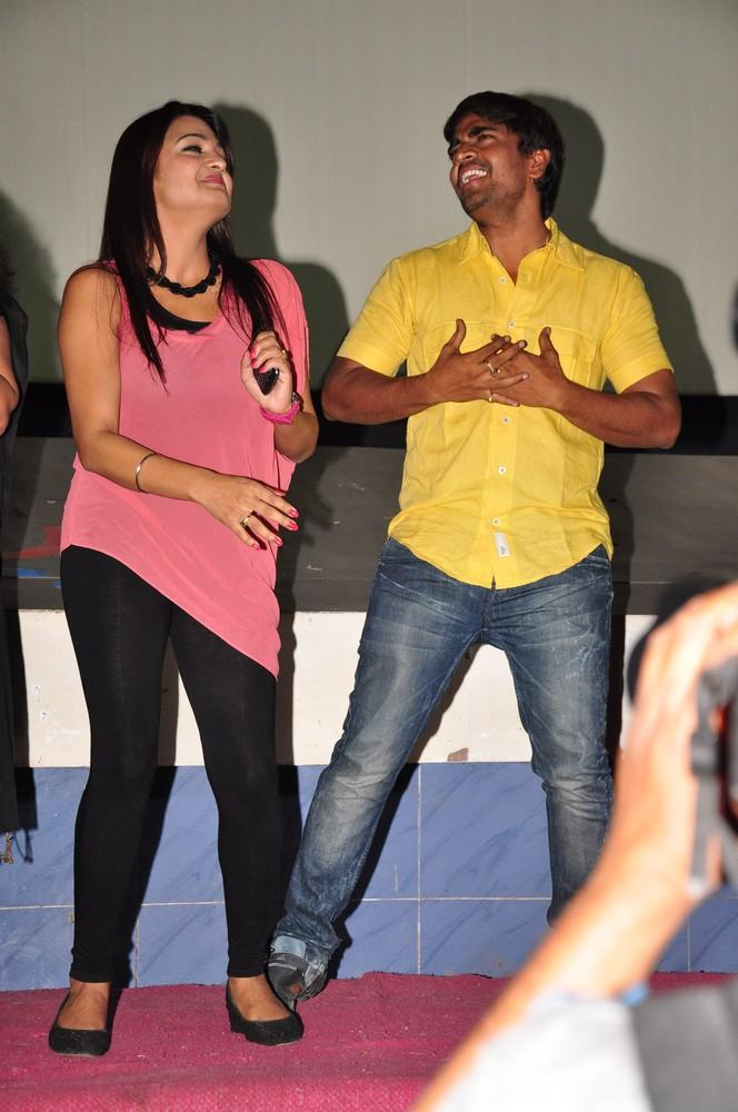 Srinivas And Tashu Cute Smiling Photo Clicked At Gola Seenu Press Meet