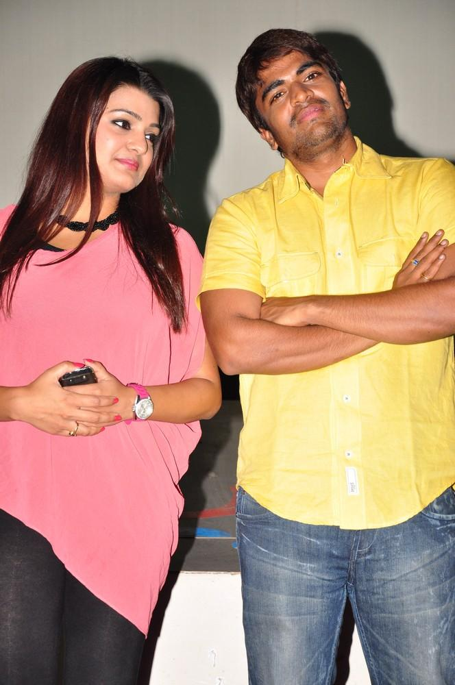 Srinivas And Tashu Nice Look Photo Clicked At Gola Seenu Press Meet