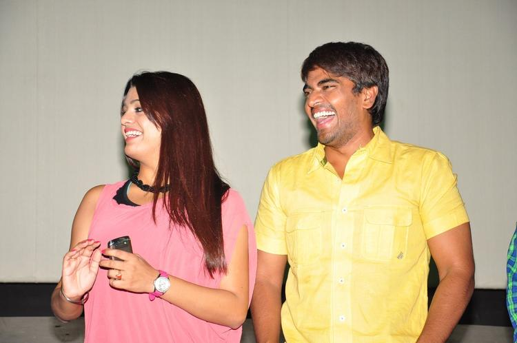 Srinivas And Tashu Snapped At Gola Seenu Press Meet