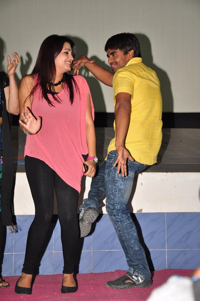 Srinivas And Tashu Strikes A Dancing Pose At Gola Seenu Press Meet
