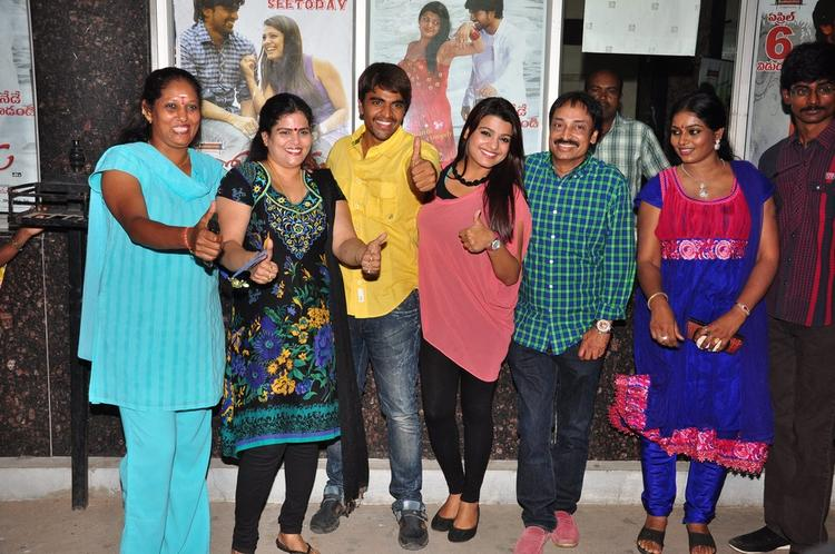 Srinivas,Tashu,Raj Kandukuri And Jayavani Snapped At Gola Seenu Press Meet