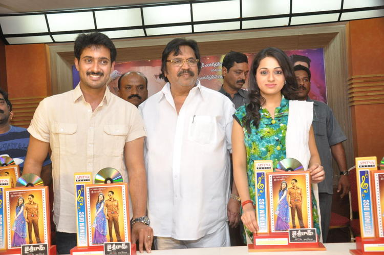 Uday,Dasari Narayana And Reshma Photo Clicked At Jai Sriram Movie Platinum Disc Function