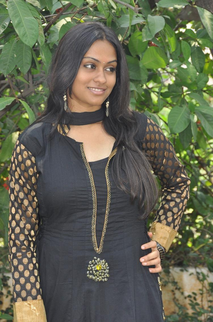 Sravani Cute Look Pose For Camera At Jananam Movie Launch