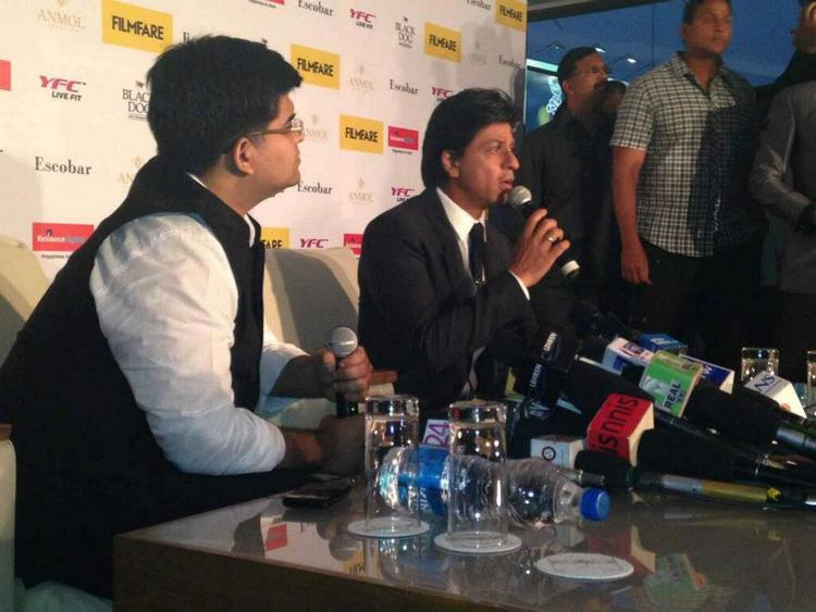 Shahrukh Khan Address The Media At Filmfare Magazine Cover Page Launching Event