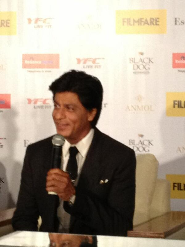 Shahrukh Khan During The Filmfare Magazine Cover Page Launching Event