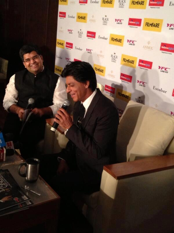 Shahrukh Khan Smiling Look During The Filmfare Magazine Cover Page Launch Event