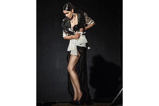 Freida Pinto Sexy Leg Show Hot Photo Shoot For Grazia India April 2013