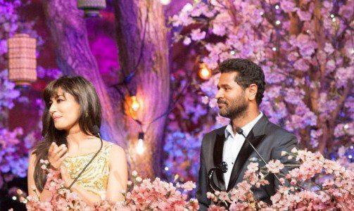 Chitrangda And Prabhu On Stage Photo Clicked At TOIFA