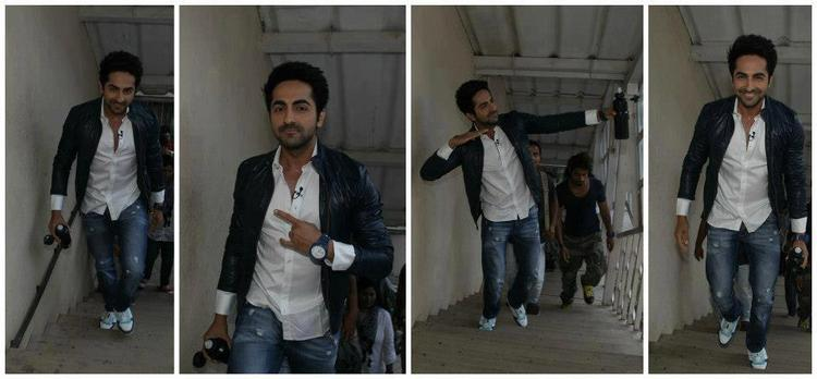 Ayushmann Khurrana Different Pose At The Front Row Show