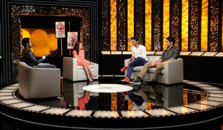 Ayushmann,Sushant And Sidharth With Anupama On The Front Row Show