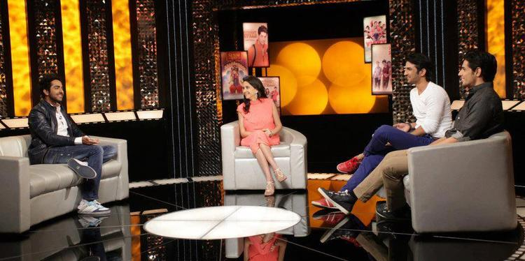 Ayushmann,Sushant And Sidharth Discussion With Anupama On The Front Row Show