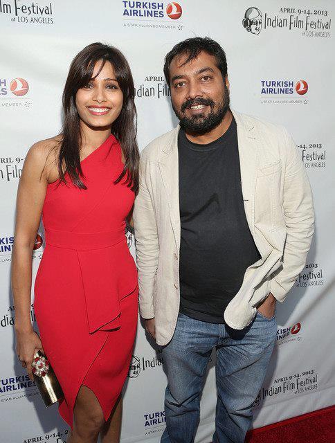 Freida And Anurag Smiling Posed At Indian Film Festival 2013