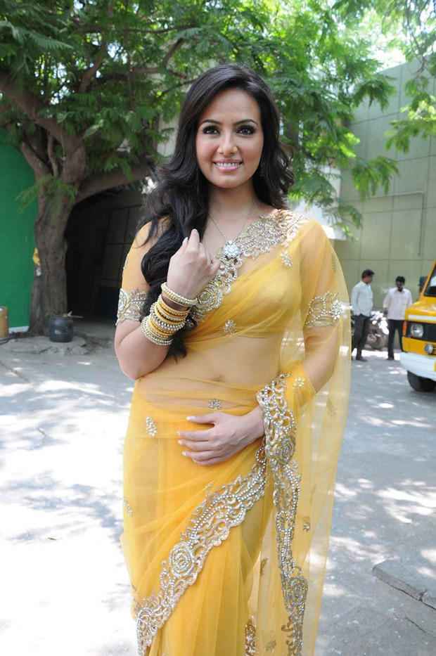 Sana Khan Hot Look In Saree At Nadigayin Diary Movie Audio Launch Function