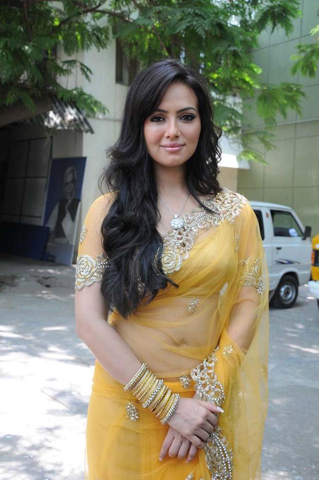 Sana Khan Sizzles In Saree At Nadigayin Diary Movie Audio Launch Function