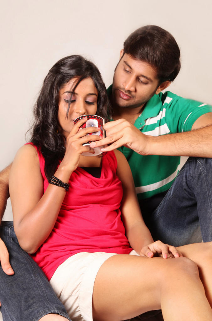Sree Ram And Amitha Spicy Look Photo Still From Movie Chemistry