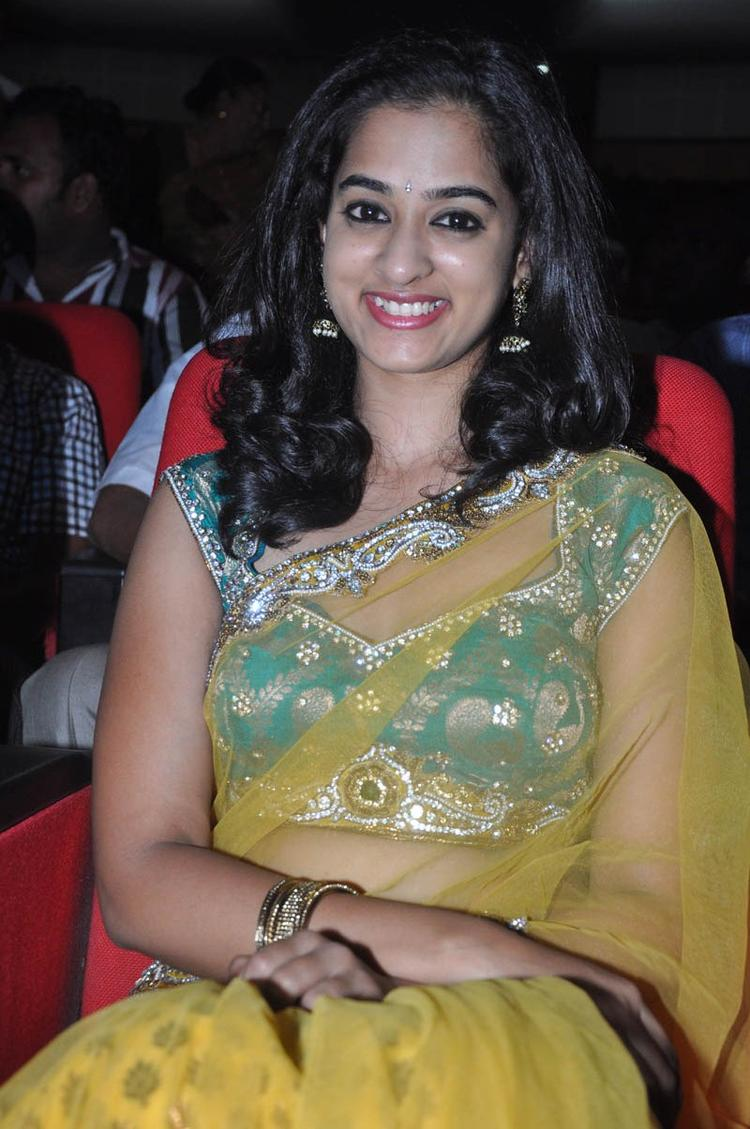 Nandita In Saree Glamour Look At Prema Katha Chitram Audio Release Function