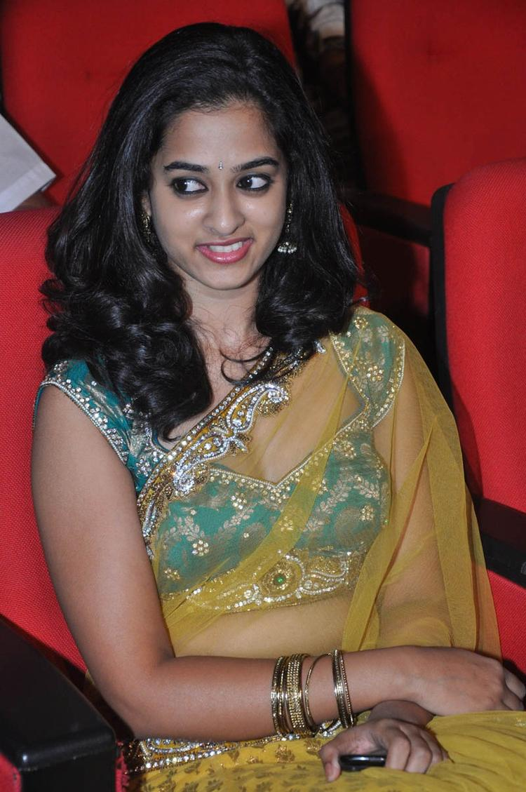 Nandita In Saree Hot Look At Prema Katha Chitram Audio Release Function