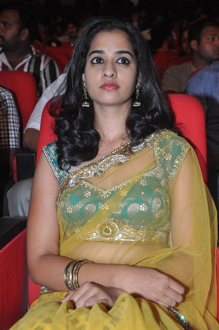Nandita In Saree Ravishing Look At Prema Katha Chitram Audio Release Function